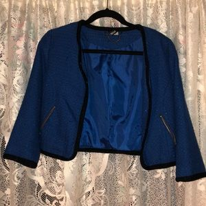 Divided mini Blue Jacket with Black Trim